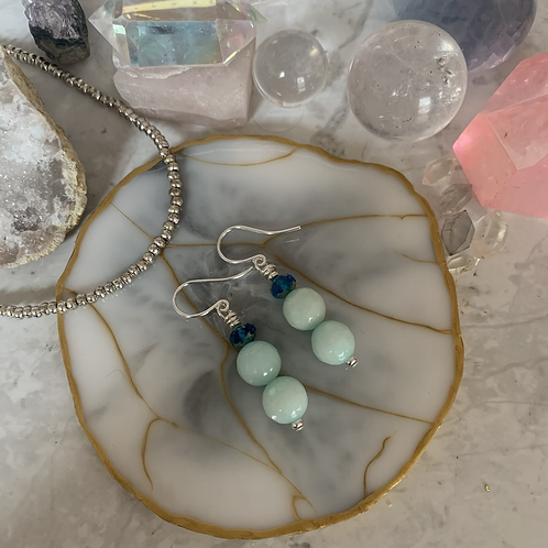 Sea Jade Czech Blue