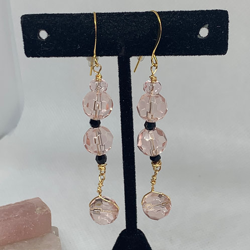 Pink and Black Dangles