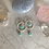 Thumbnail: Silver Double Amazonite Hoop Drops