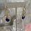 Thumbnail: Golden Wrapped Lapis Lazuli Hoops