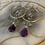 Thumbnail: Double Amethyst Healing Hoops