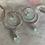 Thumbnail: Aqua Chalcedony Silver Glow Hoops