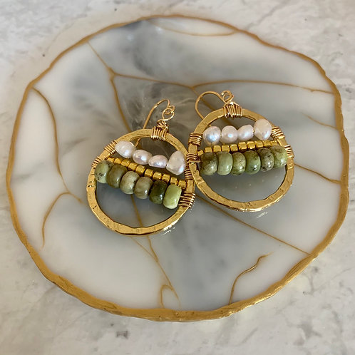 Golden Peridot Pearl