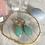 Thumbnail: Large Aqua Chalcedony Golden Rings