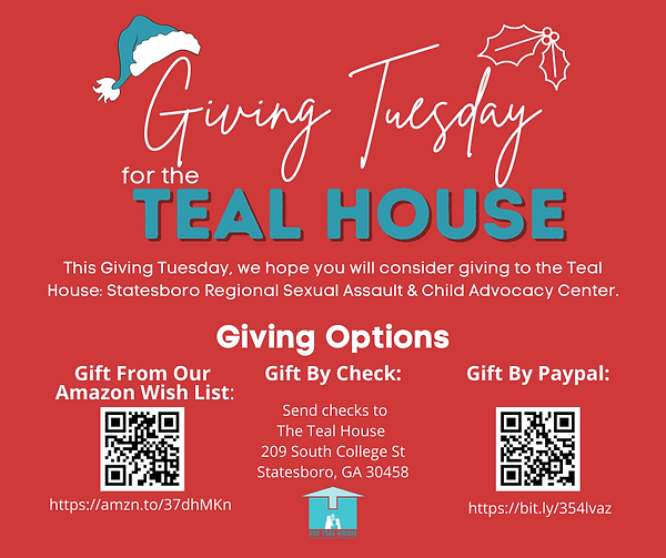 Teal House Giving Tuesday Facebook Post.