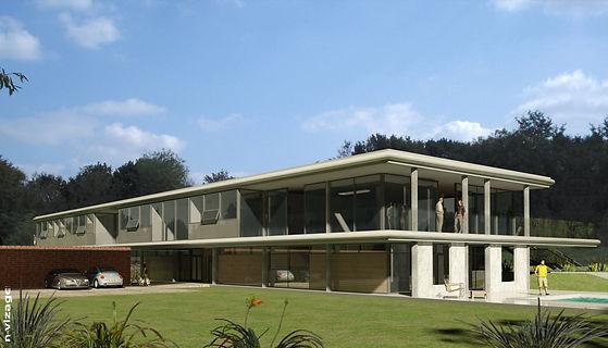 Contemporary residential build with garden