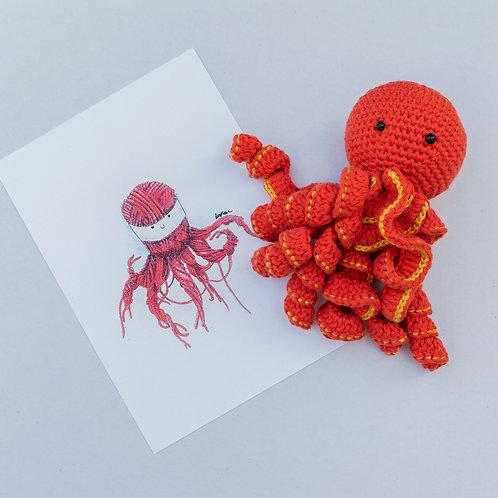 Cha Siu Papers x Anniegurumi: Little Octopus of Hong Kong Set