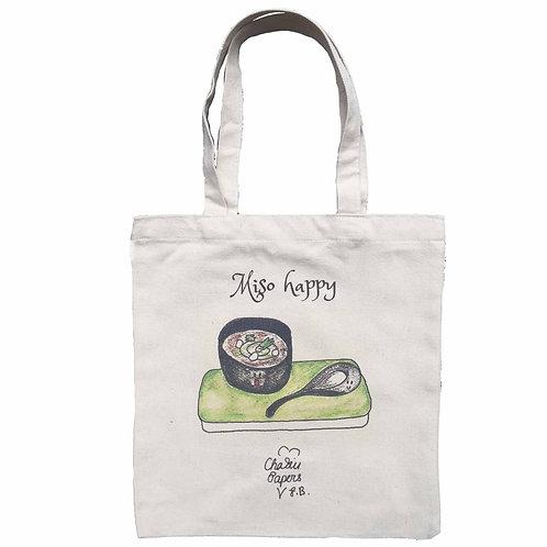 Miso happy Tote Bag