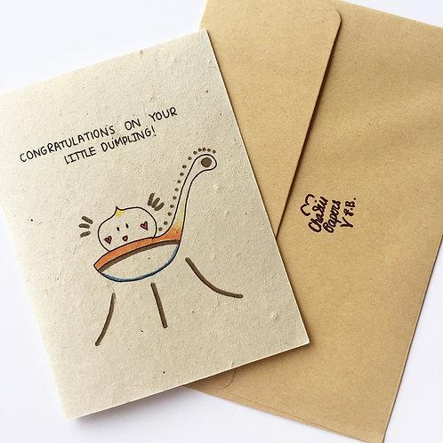 Plantable congrats on your little dumpling
