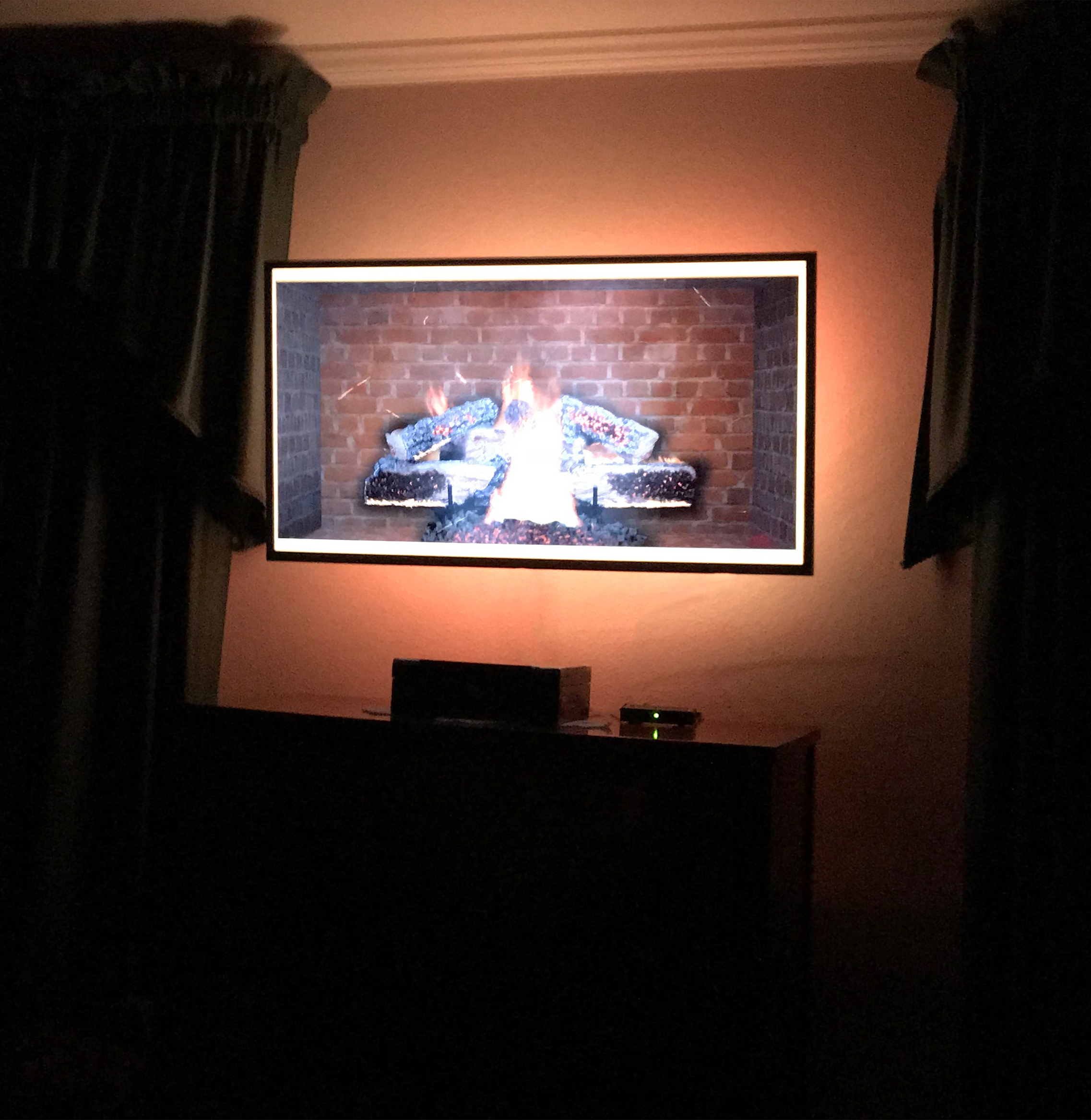 Bedroom TV with backlight