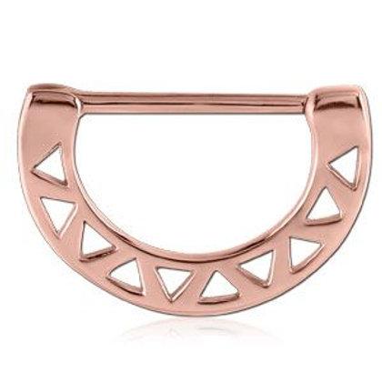 Rose Gold Cast Steel Zig Zag Nipple Clicker