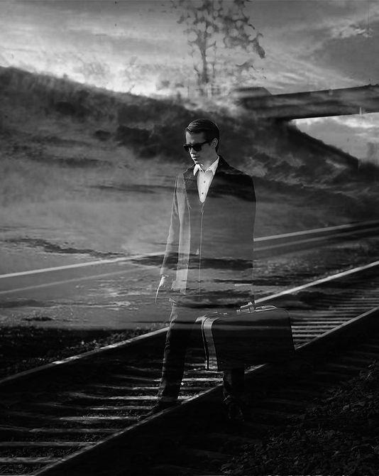 Asmeninė fotosesija juodai balta fotografija