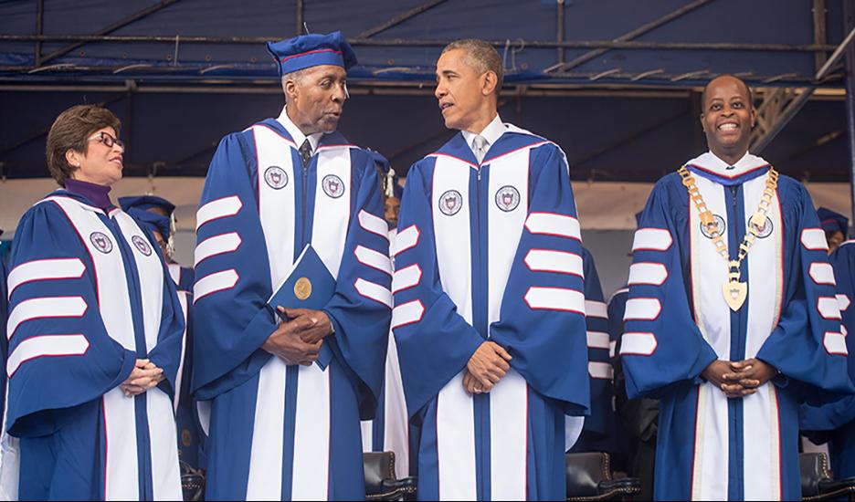 Obama, Jordan, Jarrett, and Frederick