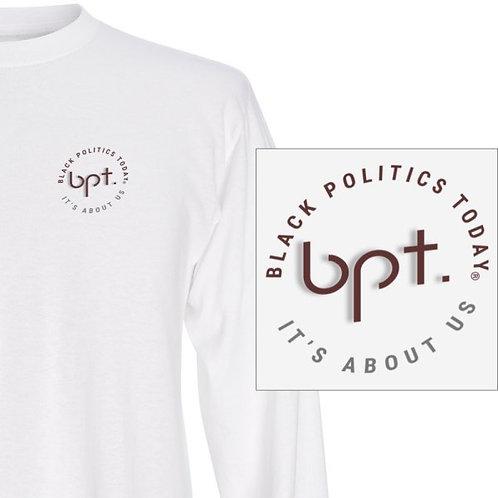 Black Politics Today Long Sleeve Polo Logo