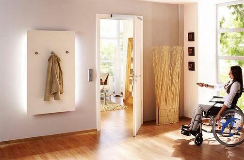 puerta domotica.apertura de puertas automatica.integracion  de personas.apertura depuerta con telefono smartphone