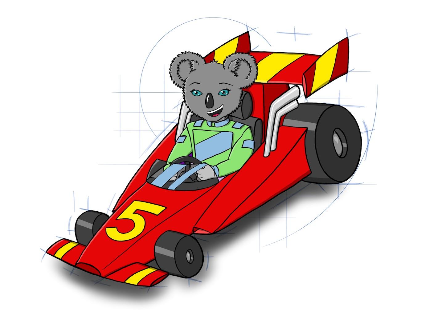 Race Car Koala