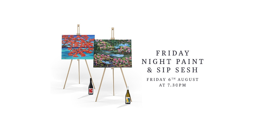 Friday Night Paint & Sip Session with Kris Cush & Donna Gibb