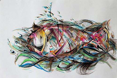 Plasticated Fish ( Print ) 60cmX40cm