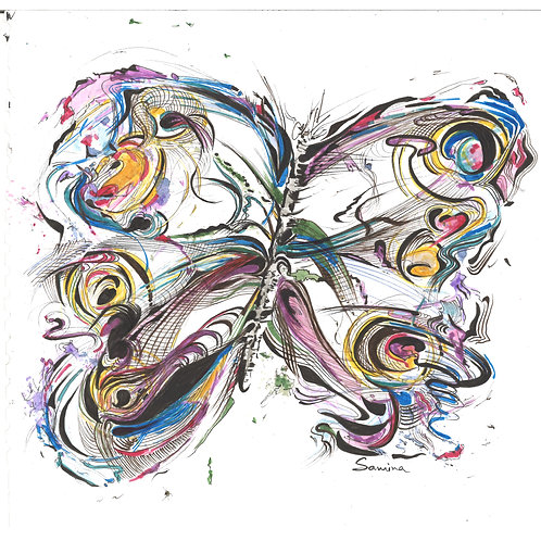 Butterfly ( Print ) size 40cm X60cm