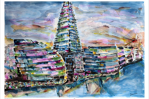 Shapes of London-The Shard. A2 size
