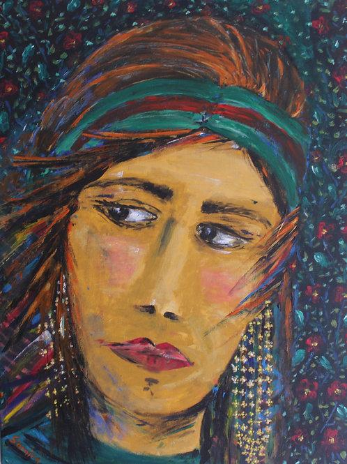 Glittery Glance (original in Acrylic)