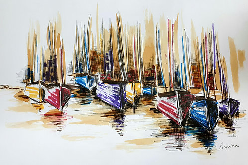 Organised chaos in ink 60cmX40cm Giclee Print