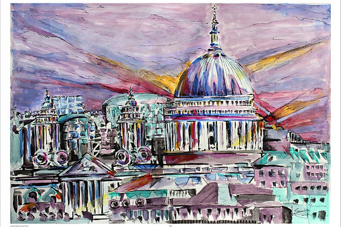 Shapes Of London- St. Paul's  A3 size print