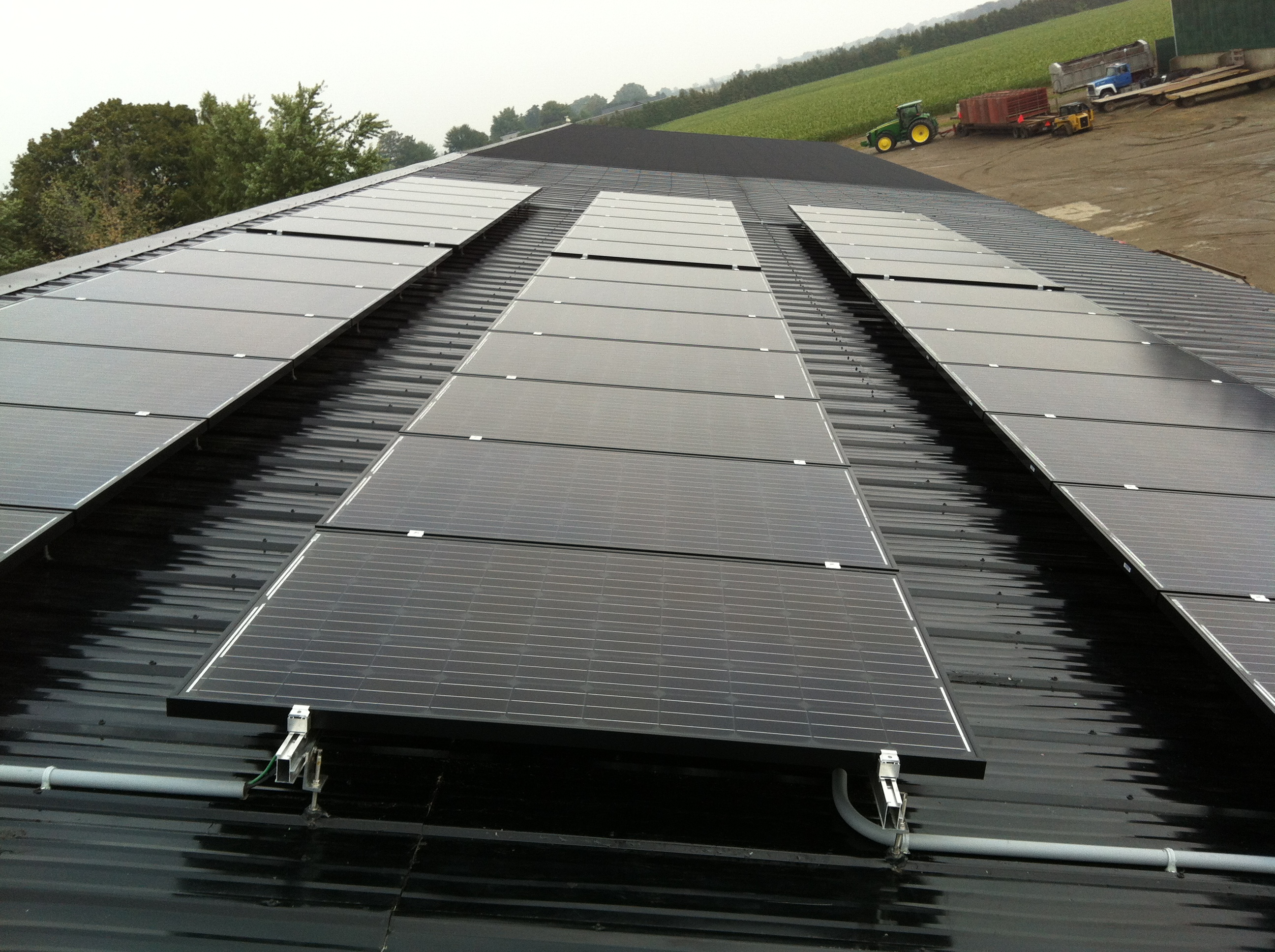 Solar - Steel metal roof install.