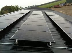 Solar - Steel metal roof install.