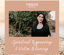 Spiritual Bypassing & Victim Blaming