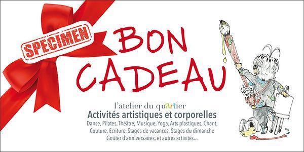 Bon cadeau Atelier du quartier Paris 15e