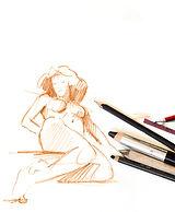 Stage de dessin modèle vivant dimanche atelier du quartier Paris 15e