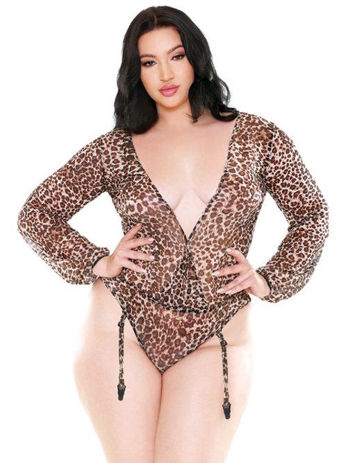 Plus Size Leopard Teddy