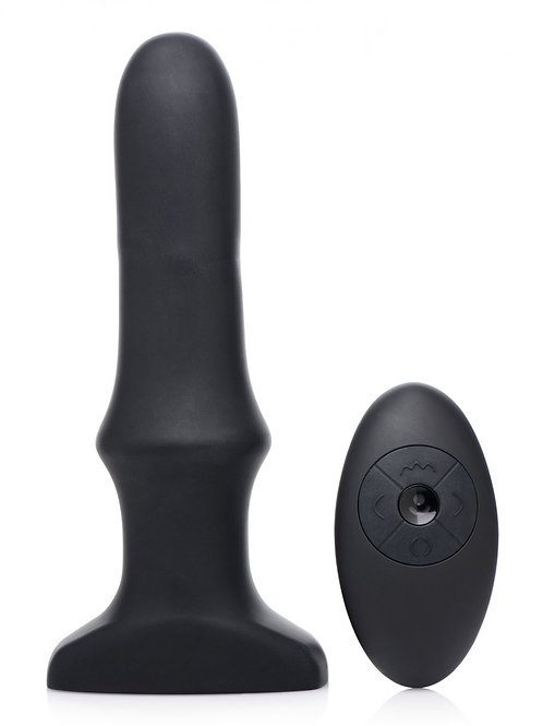 Inflatable Vibrating Anal Plug with Remote Control
