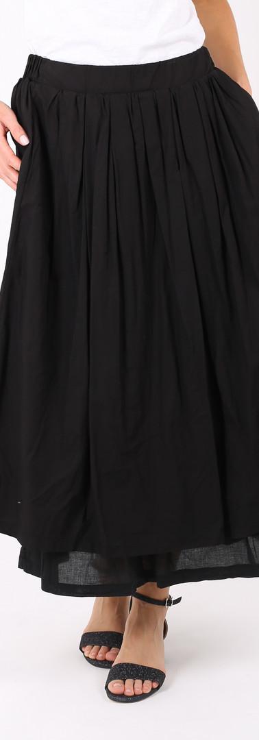 ロングスカート ポケット付き Black