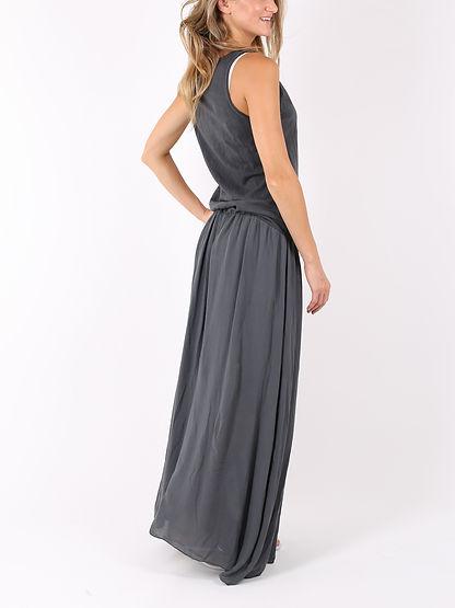 ロングドレス ポケット付き Dark grey