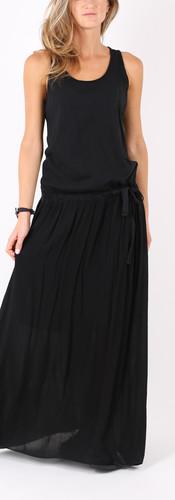 ロングドレス リボン Black
