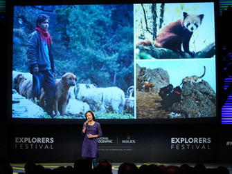 Talking about dog-wildlife conflict at National Geographic HQ