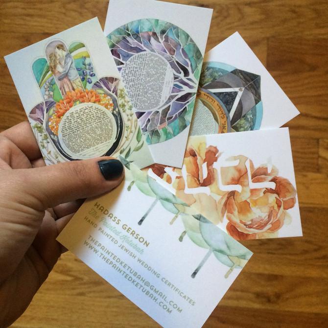 Miniature Ketubah Cards