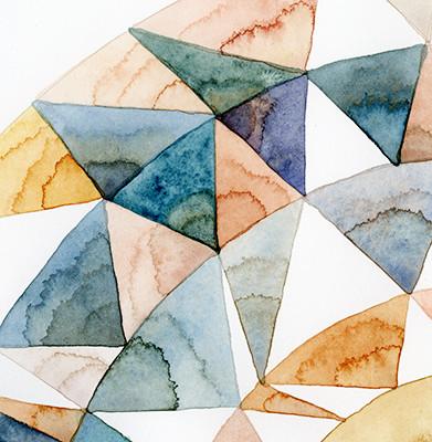 """Labradorite sunstone"", detail, 22 x 8, watercolor on cotton rag"