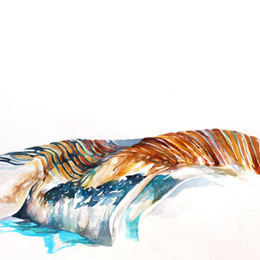 """""""What the sound of an  F/A-18 looks like, II"""", watercolor on cotton rag, 2011 2011"""