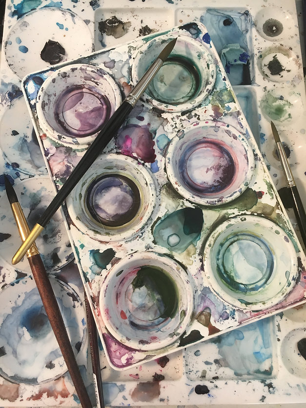 the painted ketbah studio palette