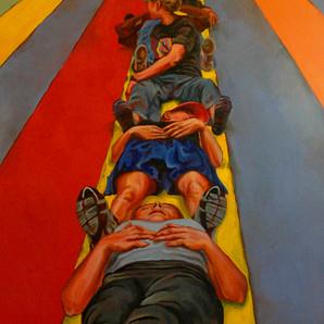 """colorfield remix"", 20x30, oil on canvas, 2007"
