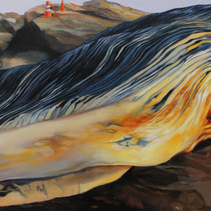 """Bean Hollow"", oil on wood panel, 2011"