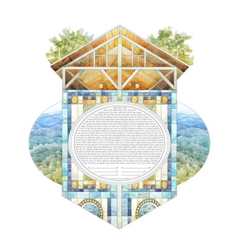 The Painted Ketubah - Camp Chapel and St