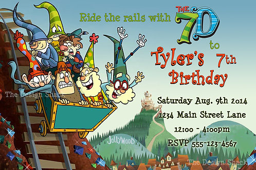 Disney The 7D Inspired Personalized Party Invite