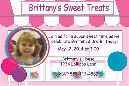 Sweet Treats - Personalized Party Invitation