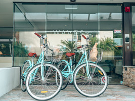 Beach cruisers available for hire