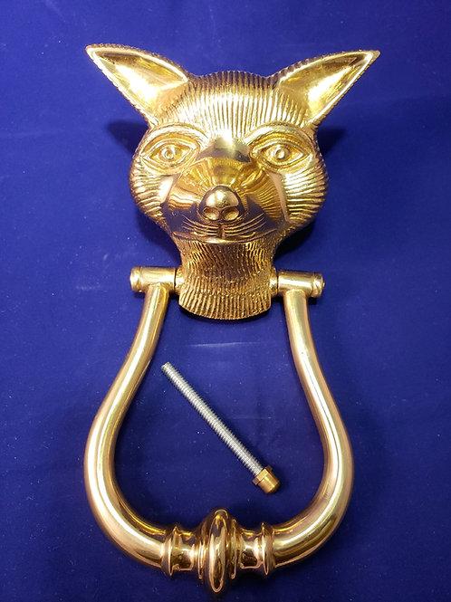 Fox Solid Brass Door Knocker