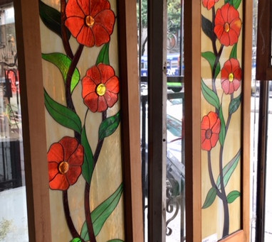 We offer a wide-ranging selection of antique stained-glass windows from various time periods!